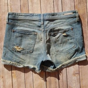 Anthropologie Shorts - Pilcro and the Letterpress Distressed Jean Shorts